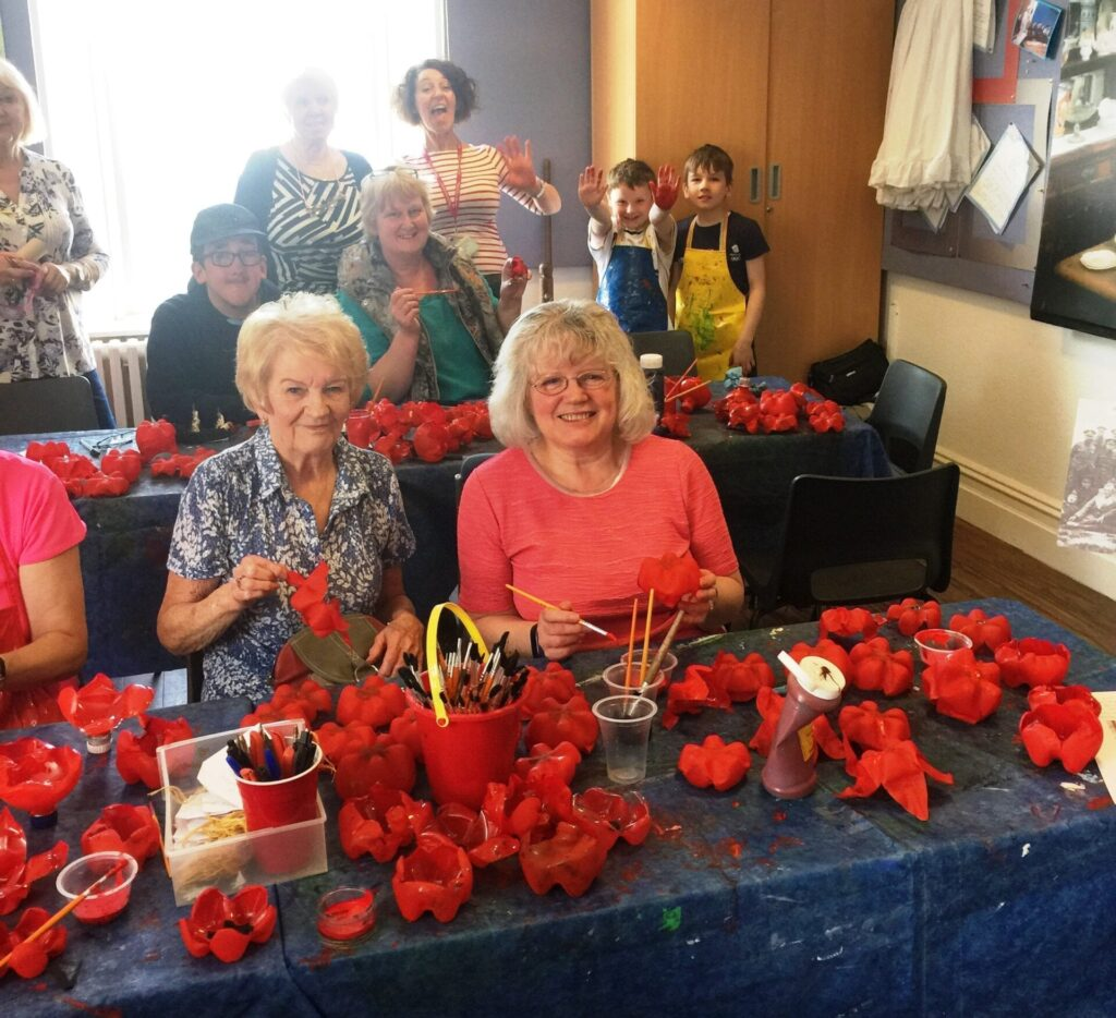 10,000 recycled plastic poppies for Fleetwood in Bloom