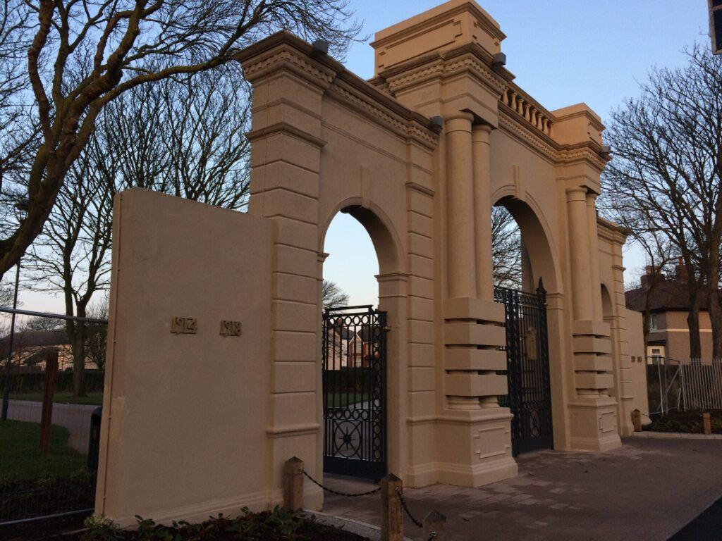 Main entrance at Warrenhurst Road