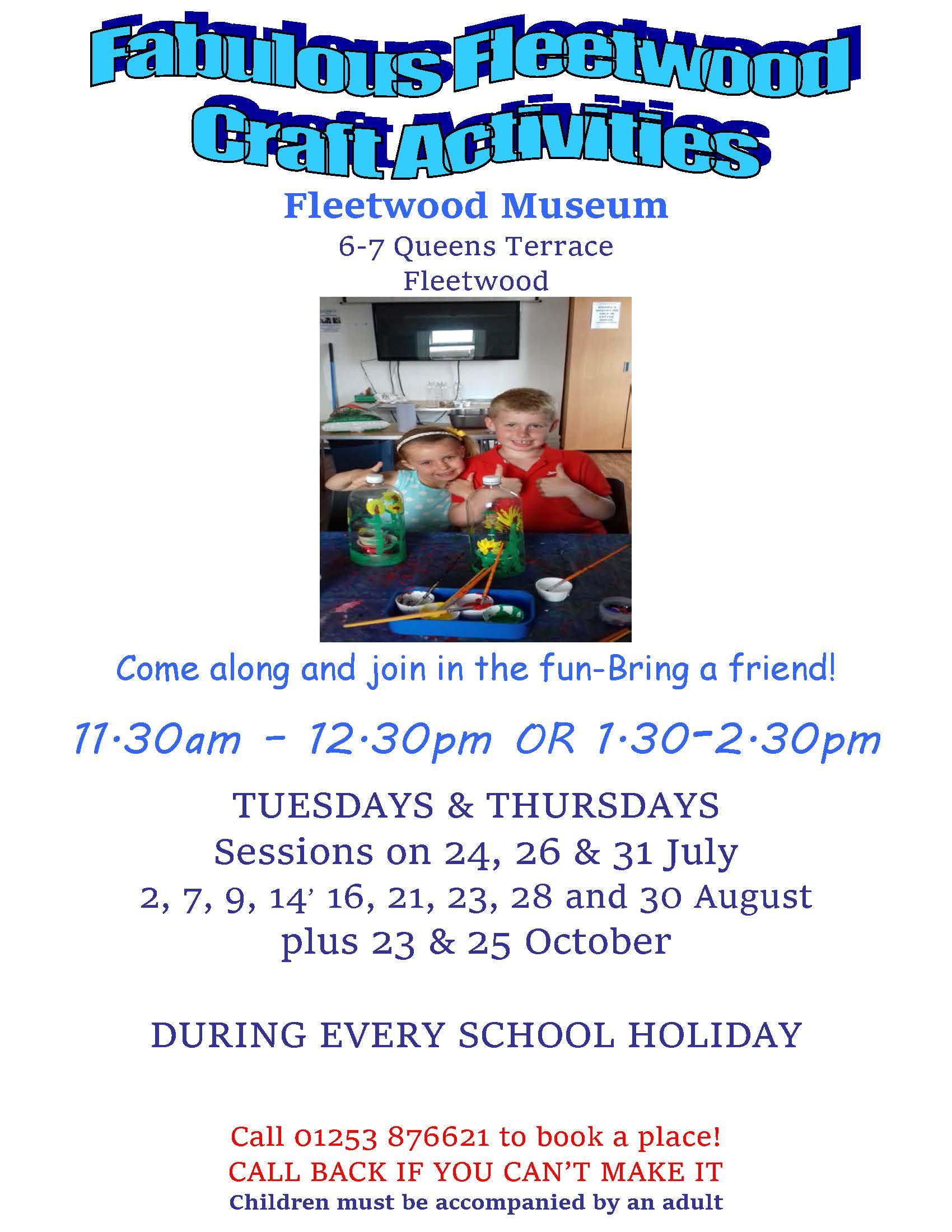 What's Happening at Fleetwood Museum - children's craft activities