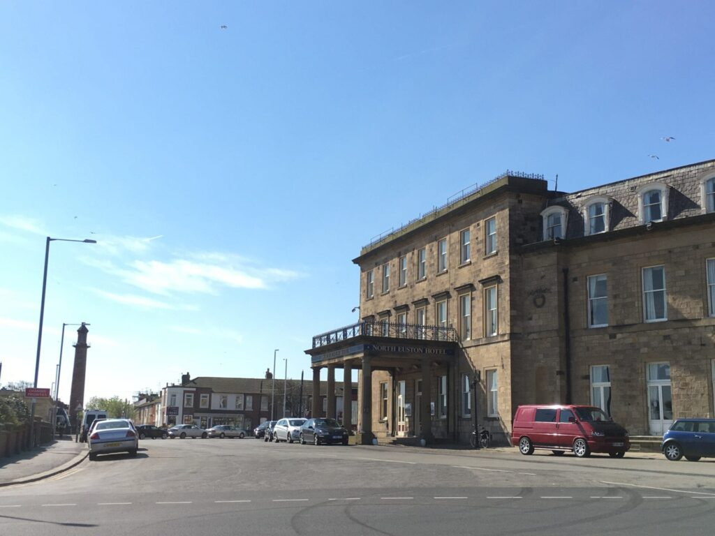 North Euston Hotel and the Upper Lighthouse, not far from Fleetwood town centre