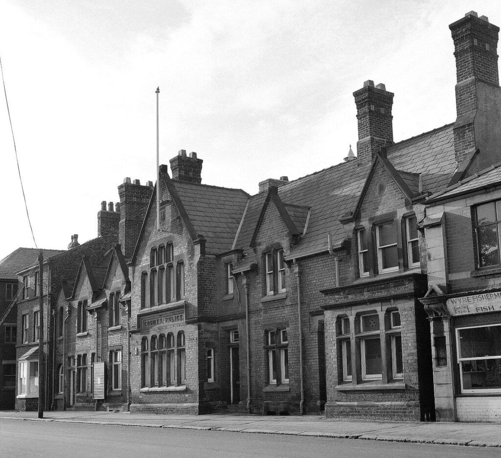 Old Fleetwood photos. Fleetwood's old police station on Victoria Road