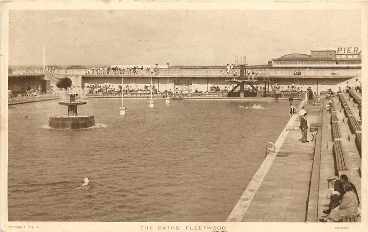 Old Fleetwood Photos. Fleetwood Outdoor Baths in 1909