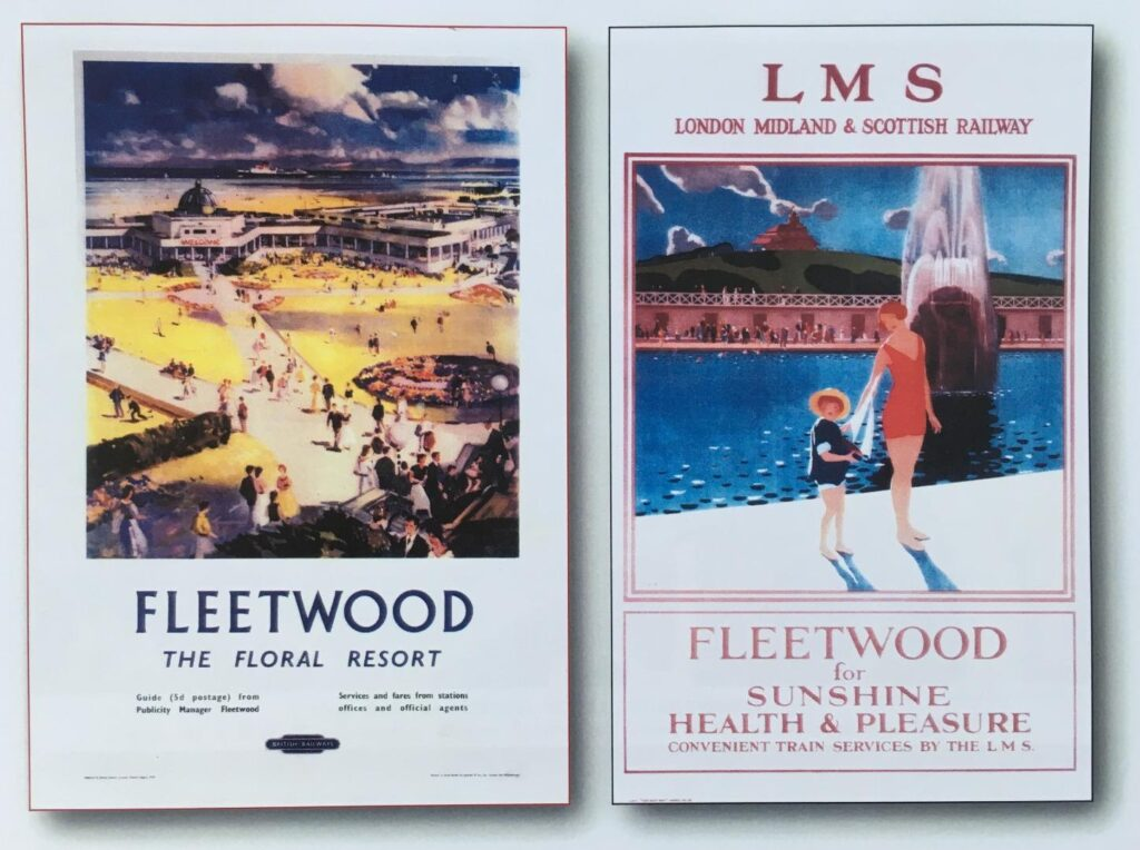 Old photos of Fleetwood. Fleetwood Railway Posters