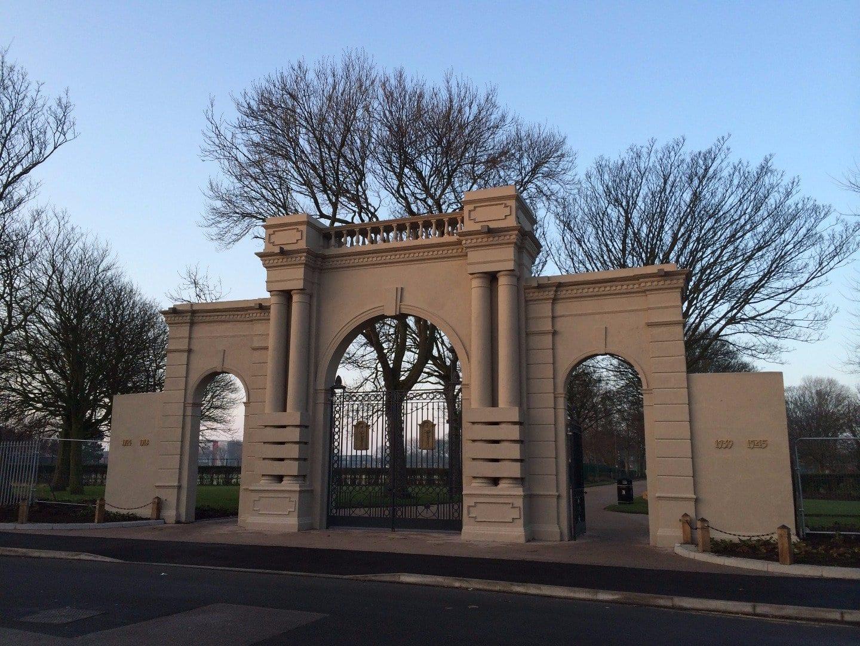 Restored Gates at Memorial Park Fleetwood