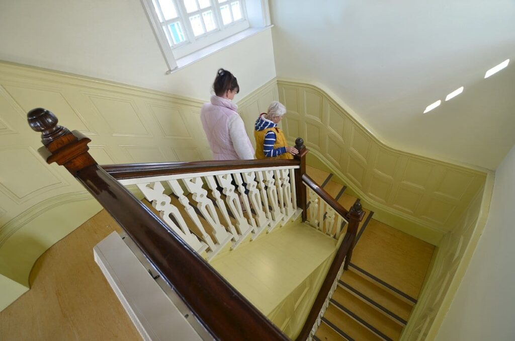 Staircase inside The Mount Pavilion, Fleetwood