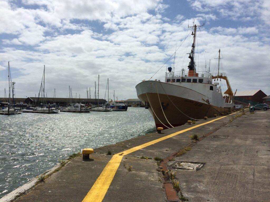 Jacinta Fishing Trawler in Fleetwood Dock. Photo: Visit Fleetwood
