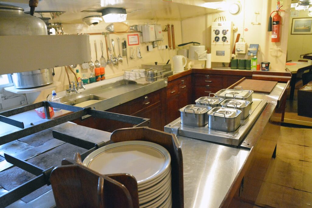 Galley Kitchen in the Jacinta Fishing Trawler. Photo: Visit Fleetwood
