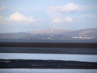 Lakes and windfarm