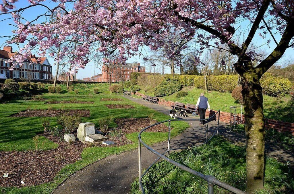 Landward side of The Mount Gardens, Fleetwood