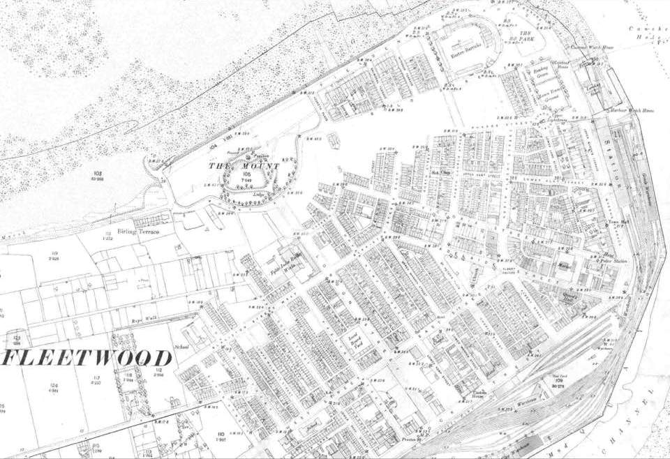 Old Fleetwood photos - Map of old Fleetwood from 1890