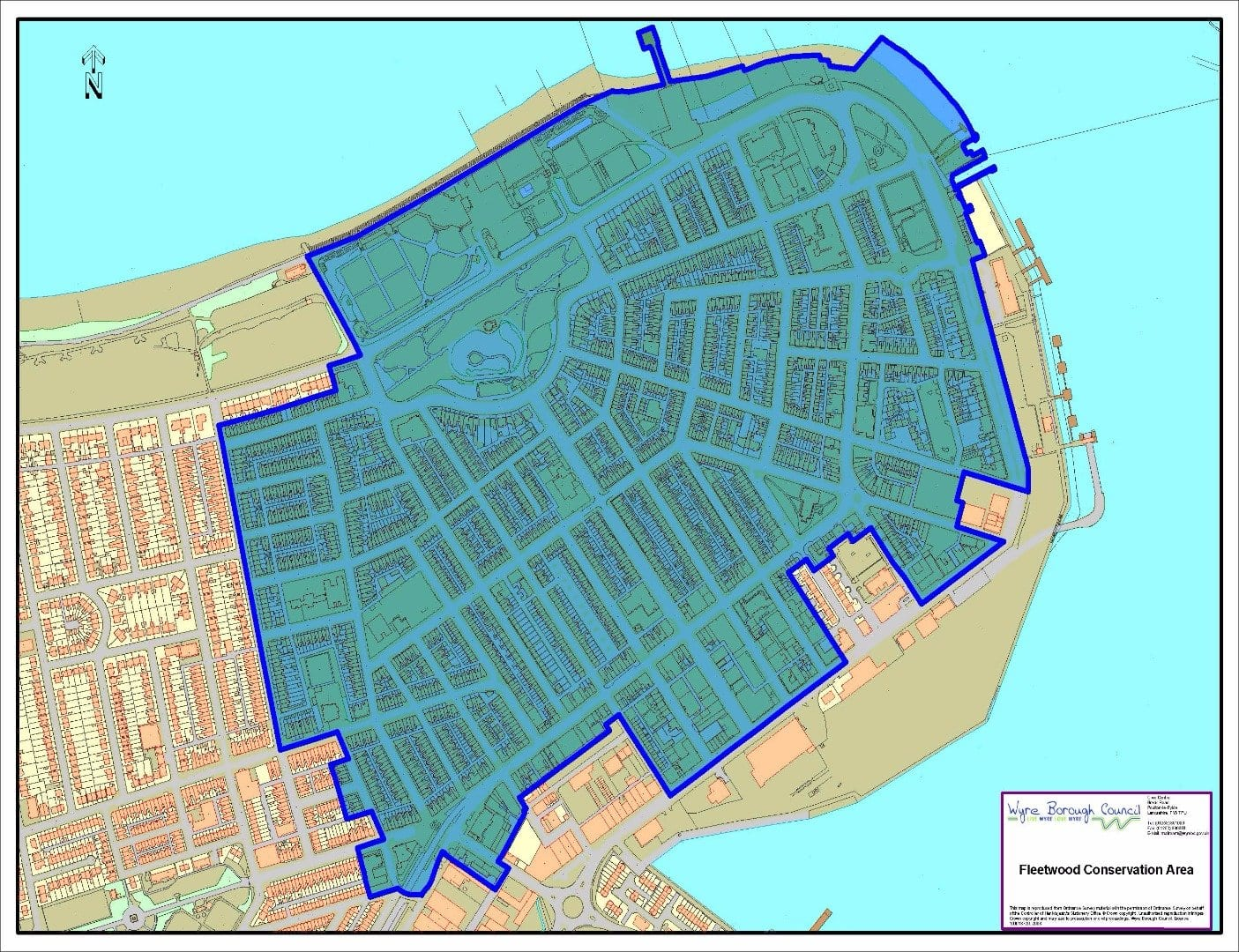 Map of Fleetwood Conservation area