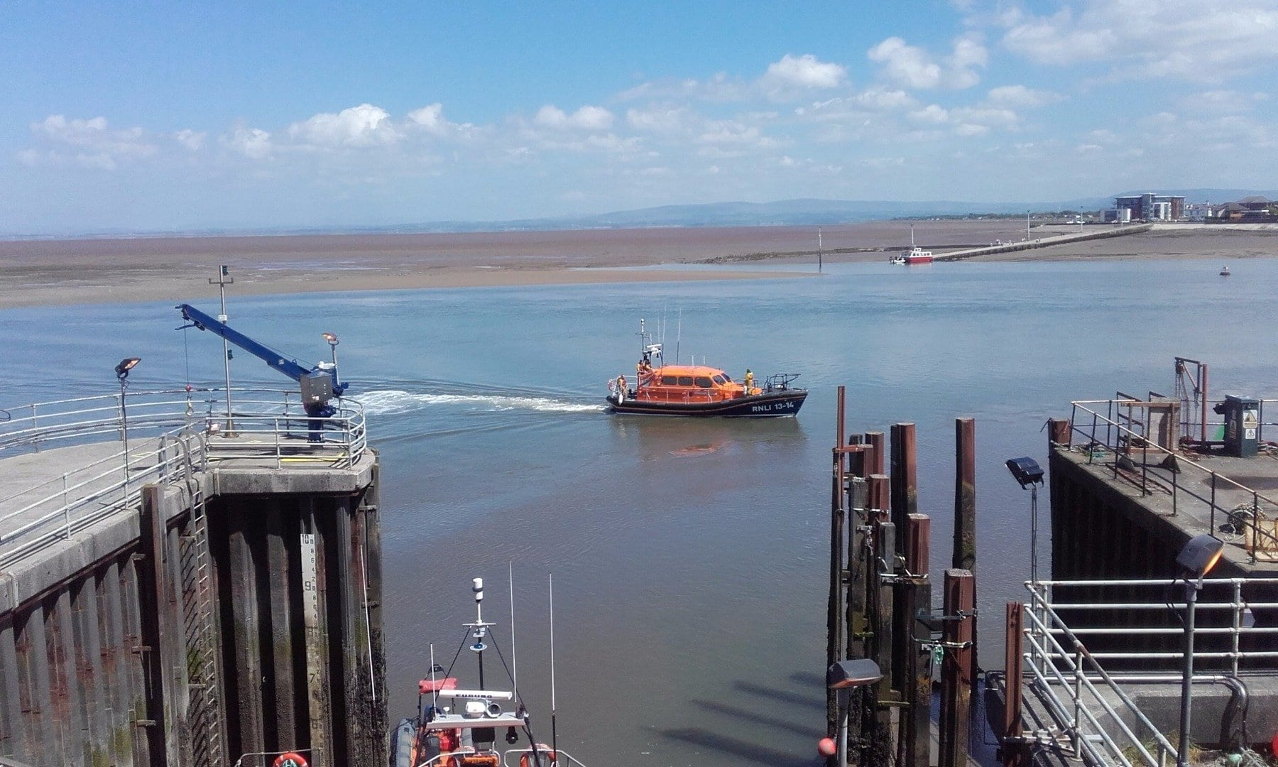 Medical transfer for Fleetwood RNLI in May 17