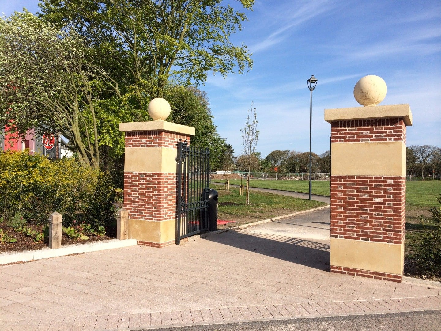 New entrance to Memorial Park at Highbury Avenue