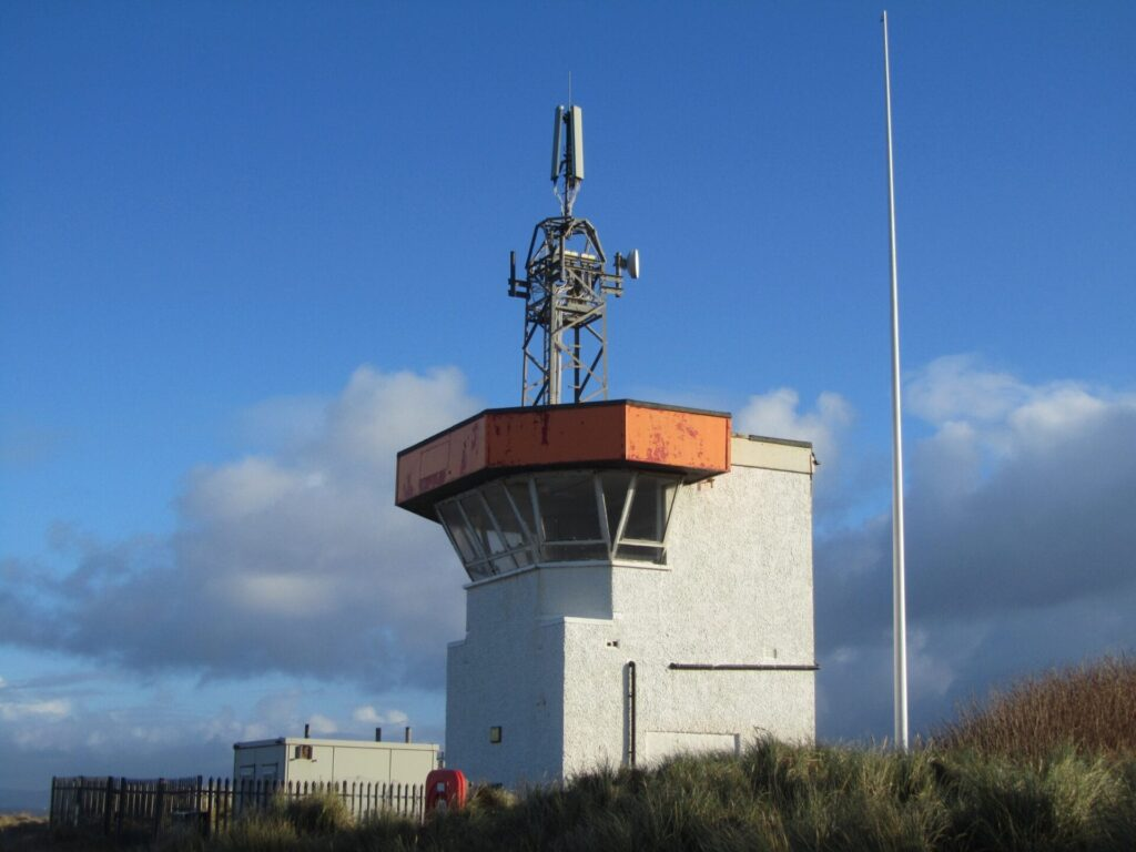 Old Rossall Coastwatch Tower before demolition. Photo by Visit Fleetwood