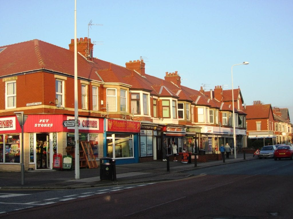 Just a few of the shops on Poulton Road in Fleetwood town centre
