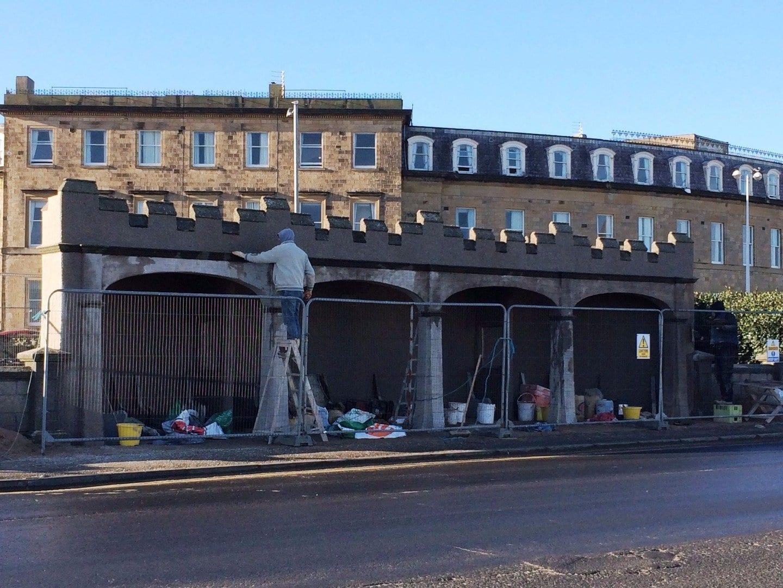 Restoration of the concrete shelters at Euston Park Fleetwood