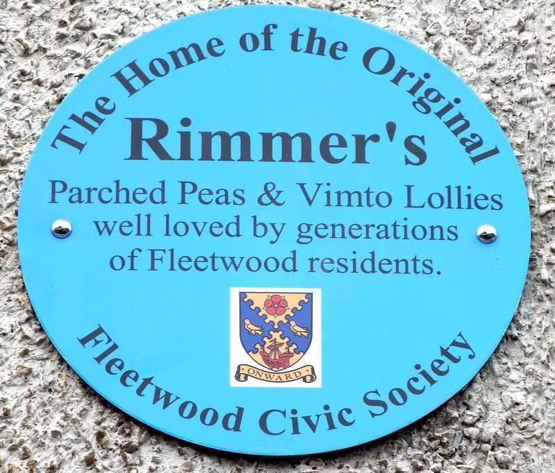 Blue Plaque at Rimmers Fleetwood. Photo: Maureen Blair