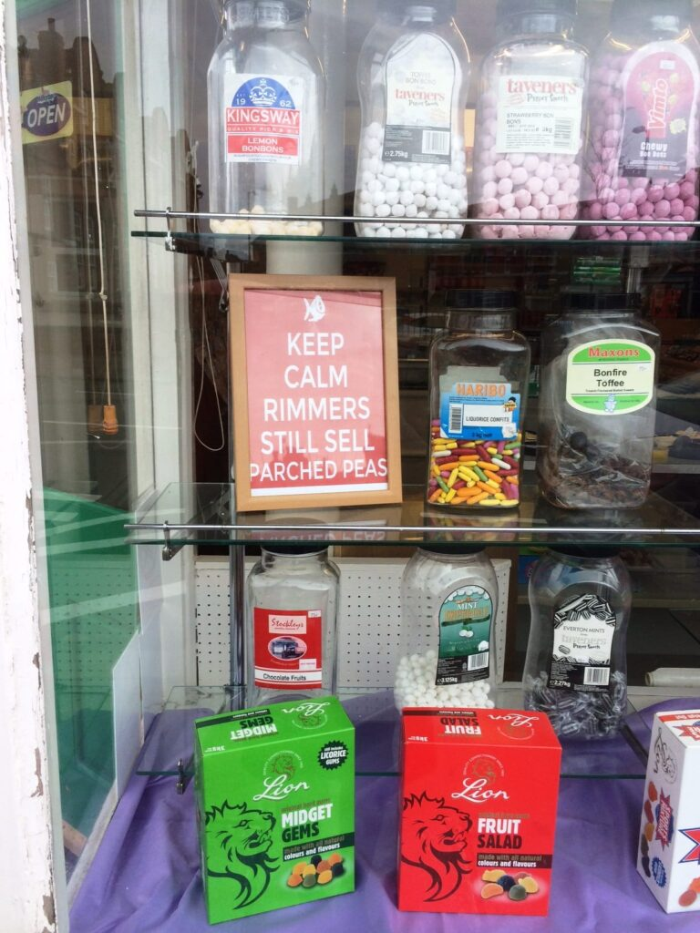 Keep calm, Rimmers still sell Parched Peas! Photo: Visit Fleetwood
