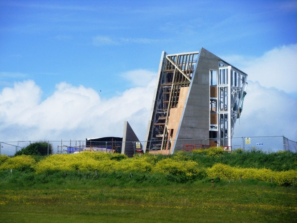 Rossall Coastwatch Tower by James Bamford, during construction 6.6.12