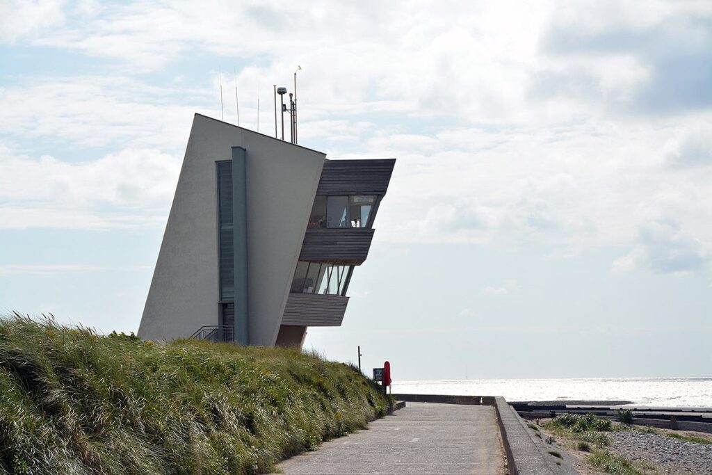 Rossall Coastwatch Tower on Fleetwood seafront