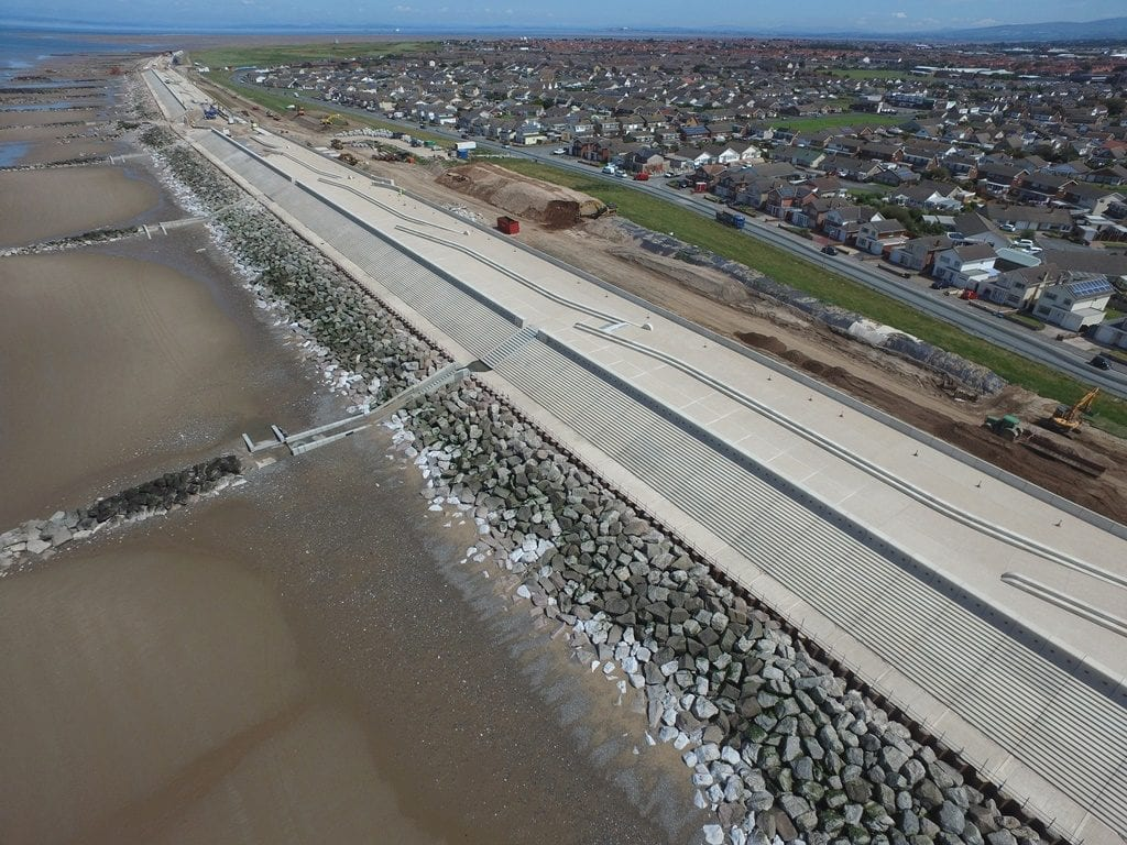 Rossall Coastal Defence Scheme, an amazing place to go walking in Fleetwood