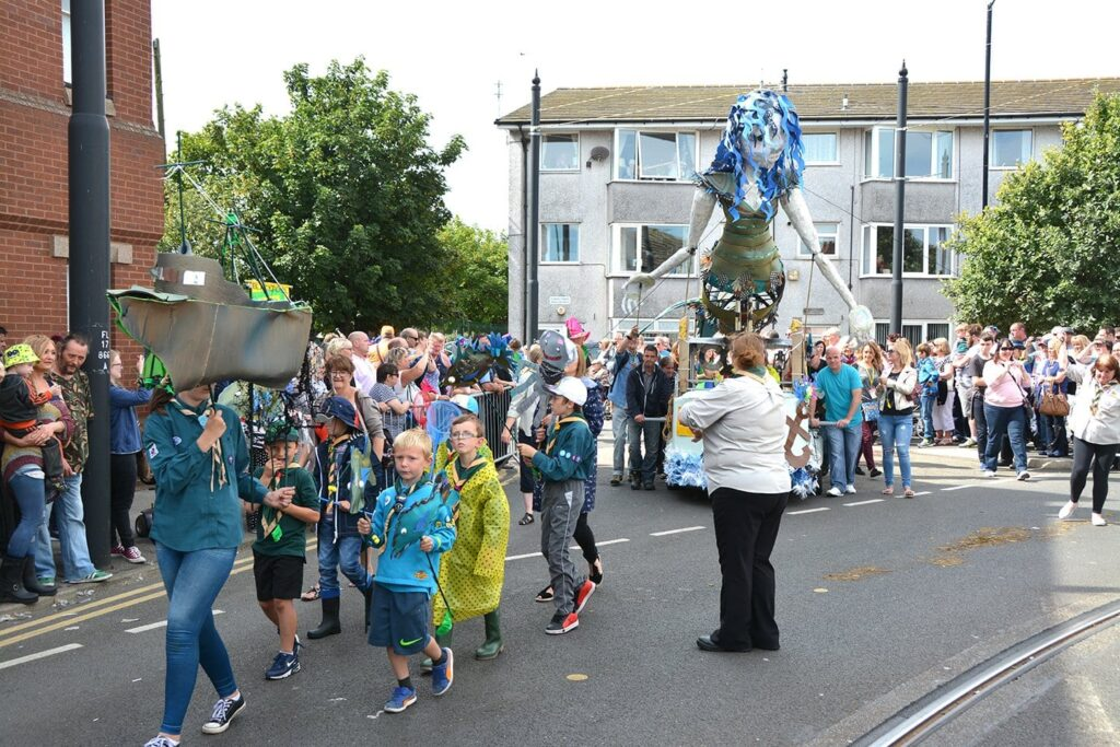 SpareParts Parade at Fleetwood Tram Sunday 2016