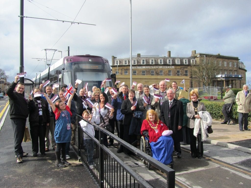 Tram Launch at Fleetwood - time for the official photo!