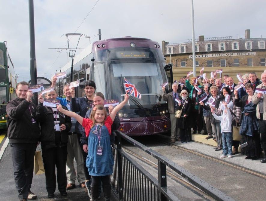 Tram Launch Day in Fleetwood