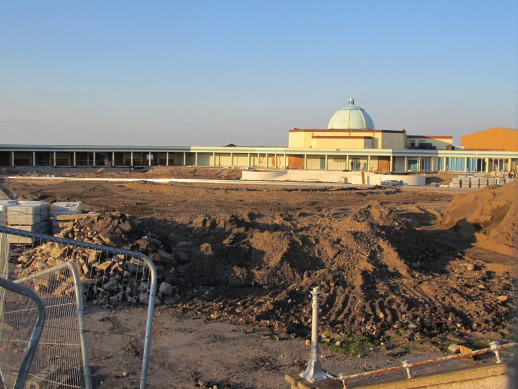 Works underway at the Marine Gardens, in October 2011