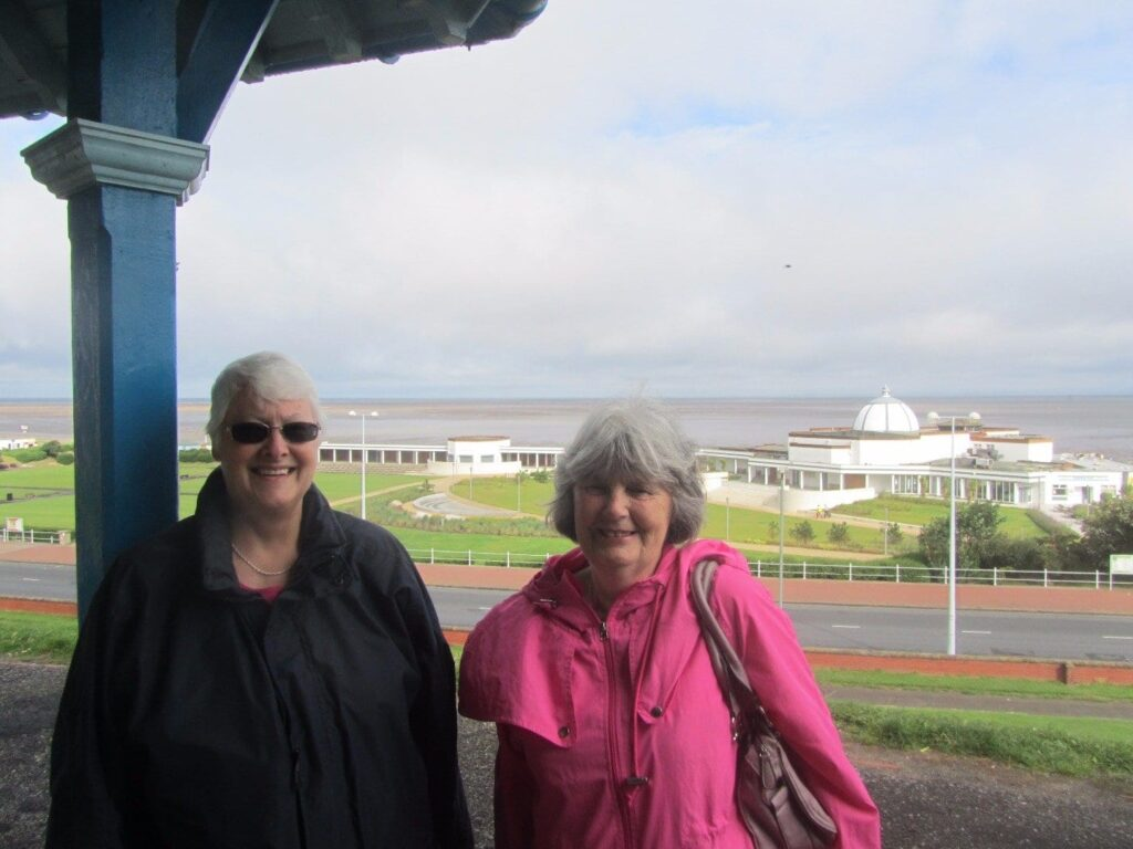 Margaret Daniels and Yvonne Johnstone from Fleetwood Civic Society