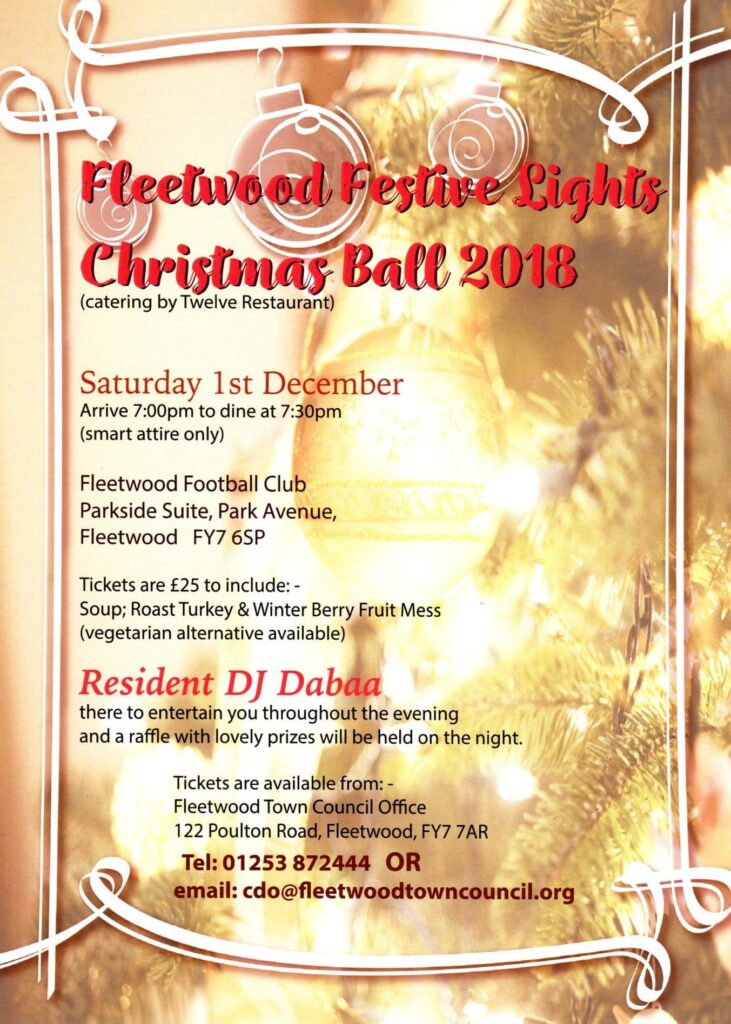 Fleetwood Festive Lights Christmas Ball 2018