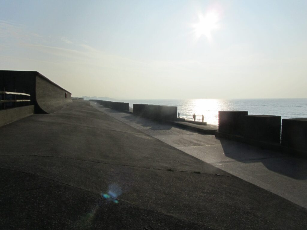 Tank Traps, as they're known locally, at Fleetwood seafront at Rossall School