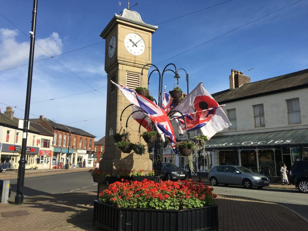 Display for the Fleetwood In Bloom 2018 entry