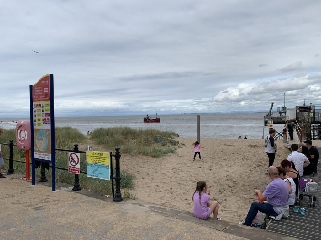 Blackpool and the Fylde College boat launch training facility