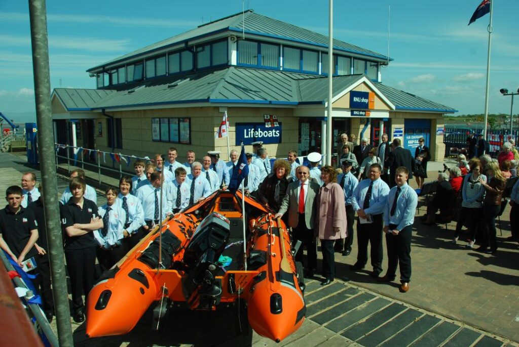 Naming the new Inshore Lifeboat at Fleetwood RNLI in 2010