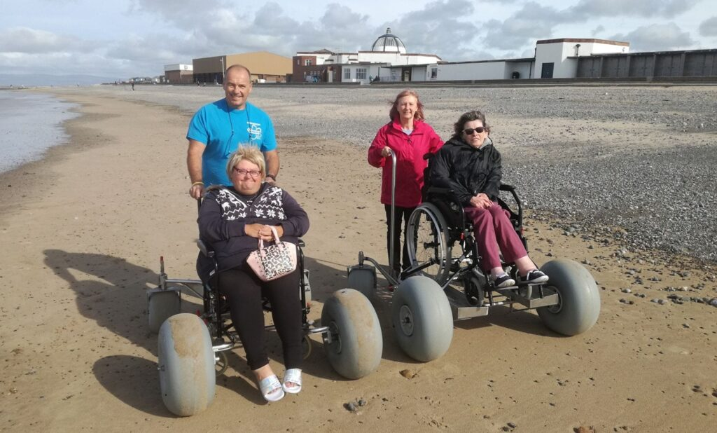 Fleetwood Beach Wheelchairs for Fleetwood seafront