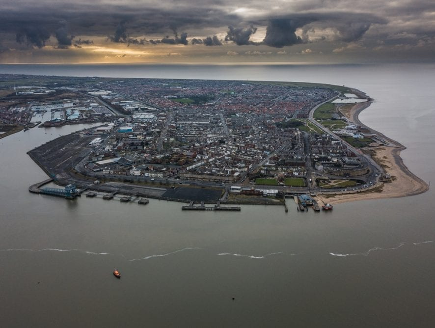 Aerial view of Fleetwood by Christopher Verity