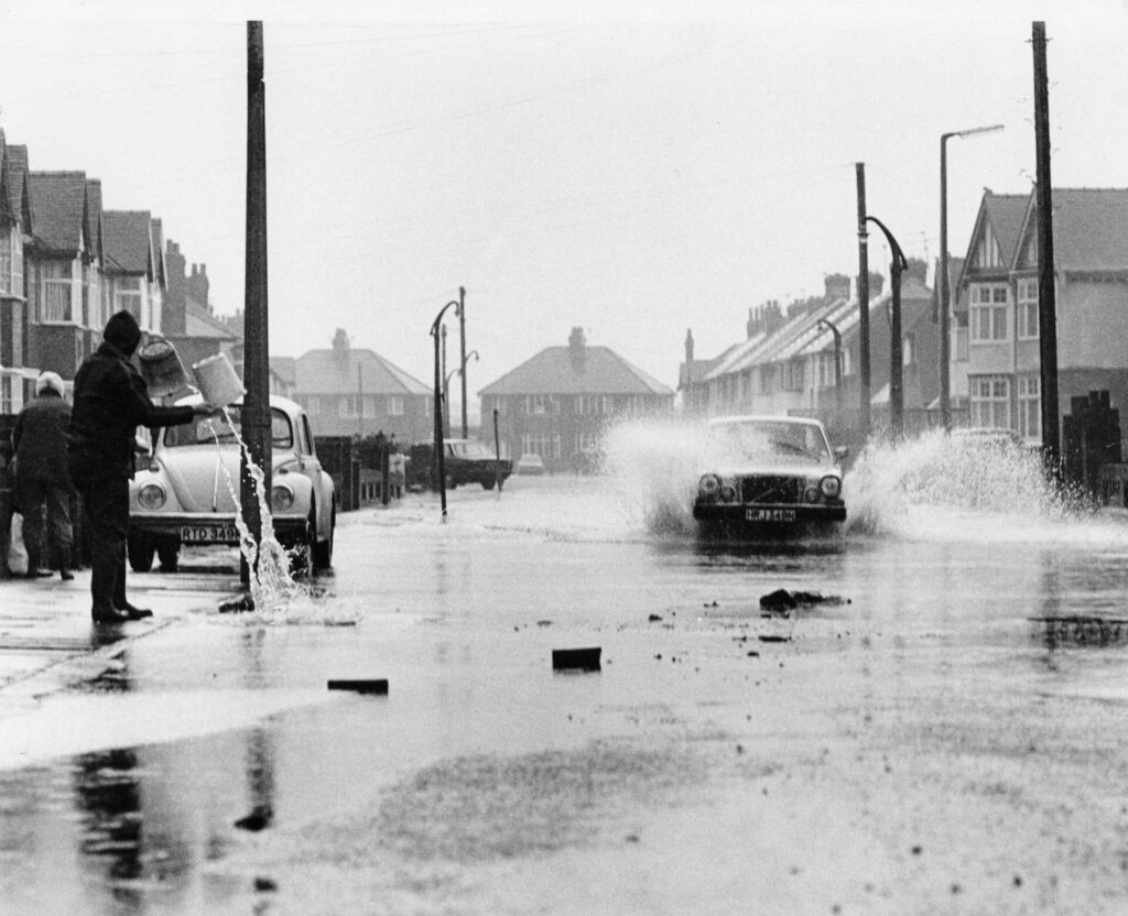 Flooding in Fleetwood in 1977