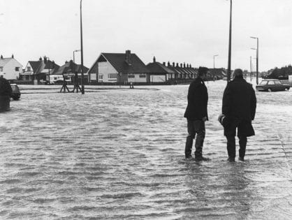 Flooding in Fleetwood