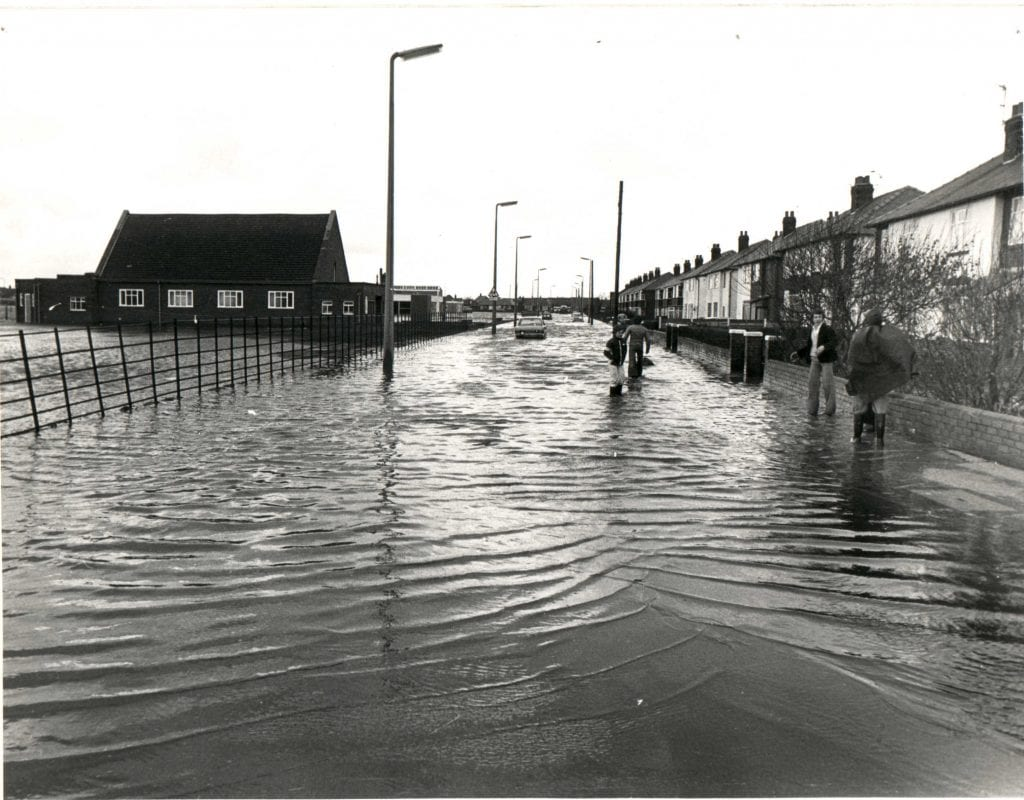 Flooding in Fleetwood