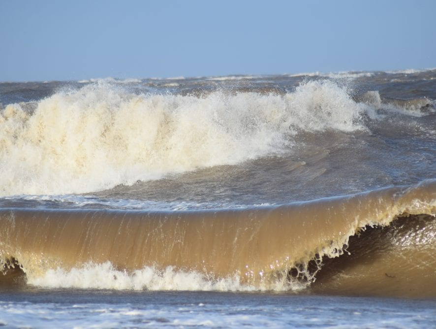Big waves in February by Peter Cossey