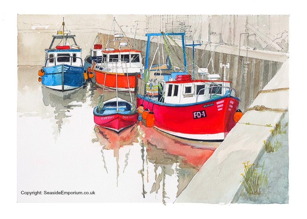 Fishing boats in Fleetwood Dock
