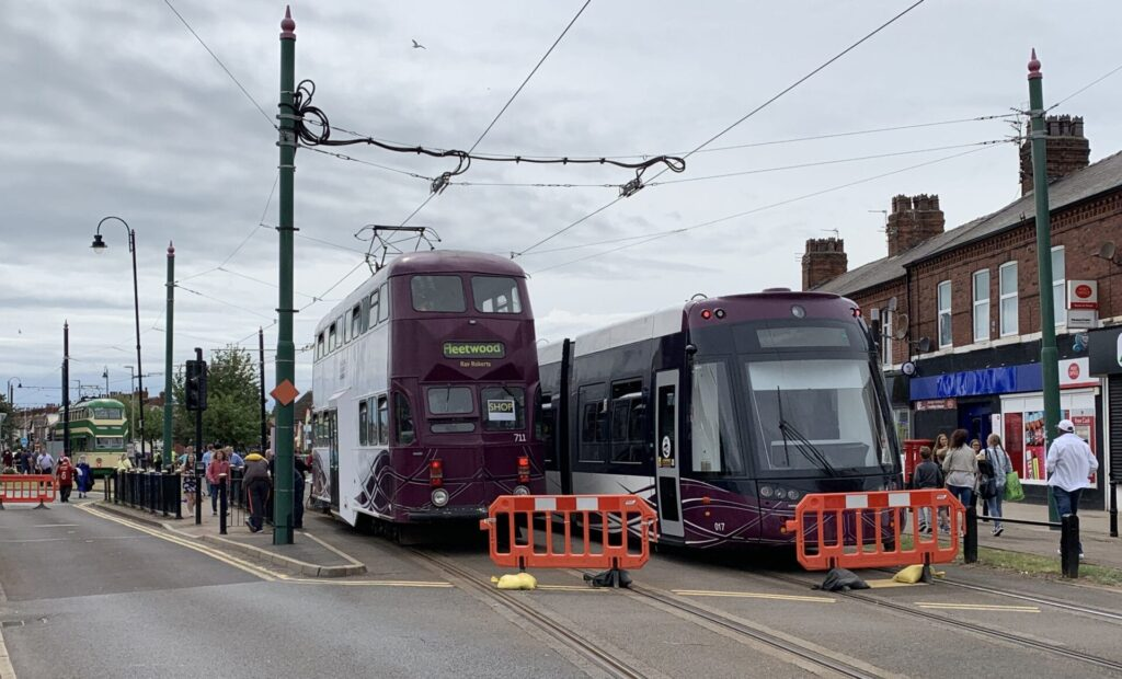 Trams on display at Fleetwood Tram Sunday
