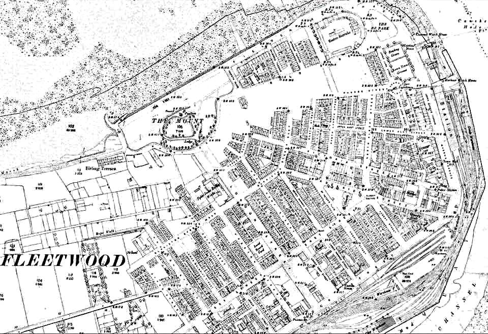 Map of Fleetwood from 1890